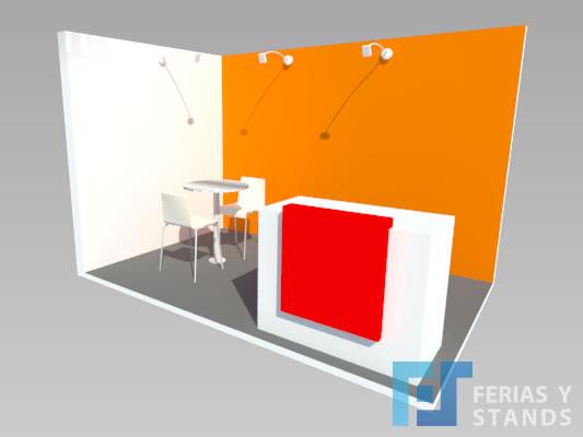 stand 3 x 2 corner para ferias y exposiciones